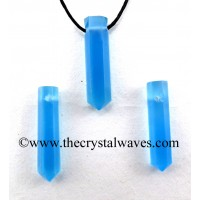 Blue Chalcedony Pencil Pendant