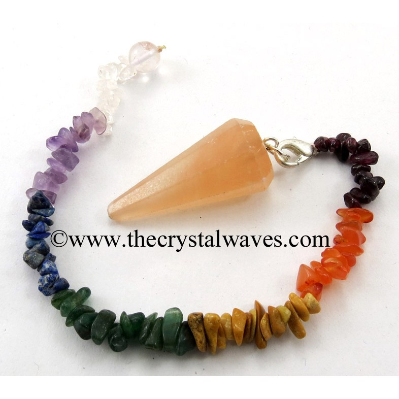 Pendulums With Chakra Chips Chain
