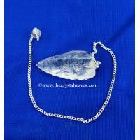 Crystal Quartz 3 Sided Hand Knapped Pendant