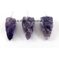 Amethyst  4 Sided Hand Knapped Pendulum