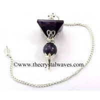 Amethyst 2 Pc Pyramid Ball Pendulum