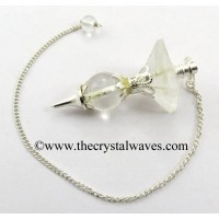 Crystal Quartz 2 Pc Pyramid Ball Pendulum