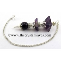 Amethyst 3 Pc Pyramid Ball Pendulum