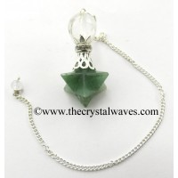 Green Aventurine (Light) Merkaba 2 Pc Pendulum
