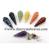 Spiral Pendulum With Chakra Chain Chakra Set