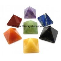 Less than 15mm pyramid Chakra Set