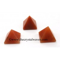 Red Aventurine less than 15mm pyramid