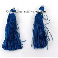 Peacock Blue Color Tassels