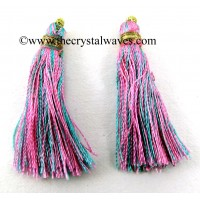 Pink & Turquoise Color Tassels