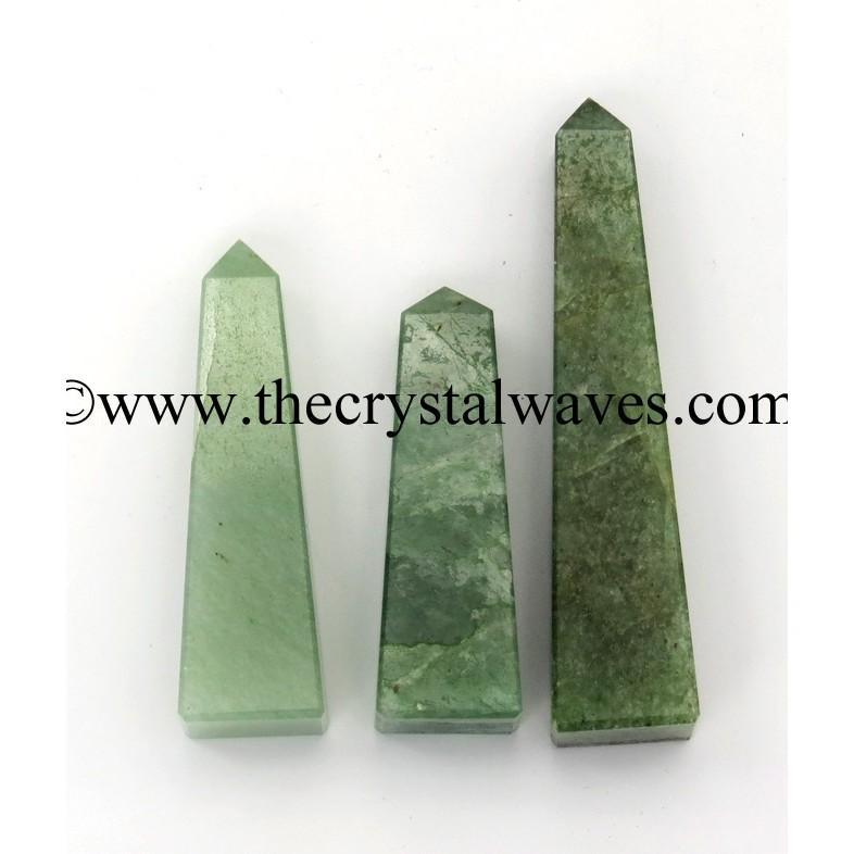 Green Aventurine (Light) 3 Inch + Tower