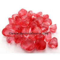 Ruby Aura Dyed Crystal Quartz A Grade Tumbled Nuggets
