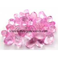 Rose Aura Dyed Crystal Quartz A Grade Tumbled Nuggets