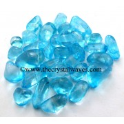 Aqua Aura Dyed Crystal Quartz A Grade Tumbled Nuggets