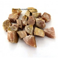 Peach Moonstone Raw Chunks