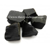 Black Agate Raw Chunks