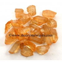 Tangerine Aura Dyed Crystal Quartz A Grade Raw Chunks