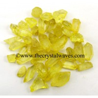 Sunshine Aura Dyed Crystal Quartz A Grade Raw Chunks
