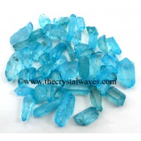 Aqua Aura Dyed Crystal Quartz A Grade Raw Chunks