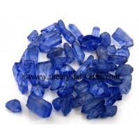 Tanzine Aura Dyed Crystal Quartz A Grade Raw Chunks